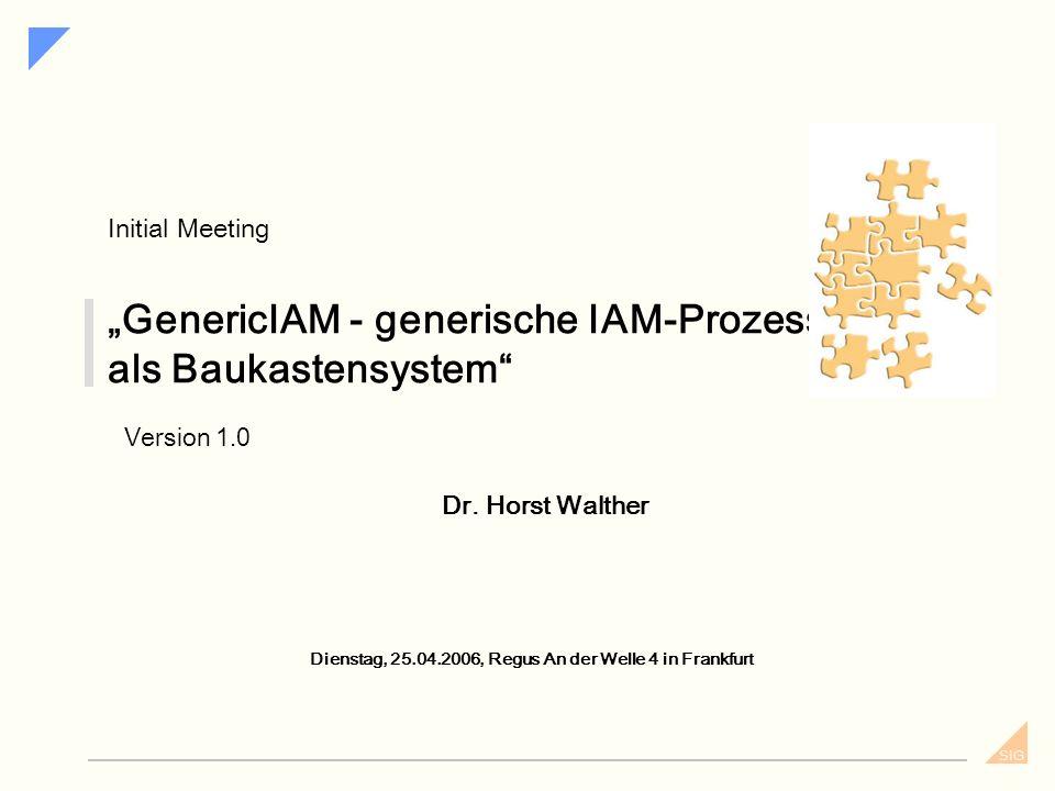 """""""GenericIAM - generische IAM-Prozesse als Baukastensystem"""