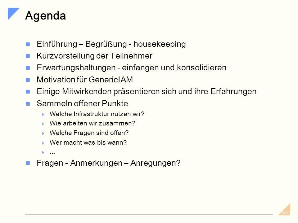Agenda Einführung – Begrüßung - housekeeping