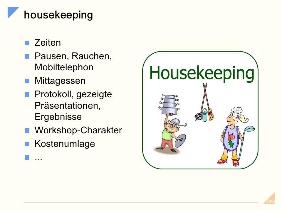 housekeeping Zeiten Pausen, Rauchen, Mobiltelephon Mittagessen