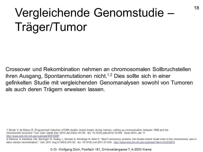 Vergleichende Genomstudie – Träger/Tumor
