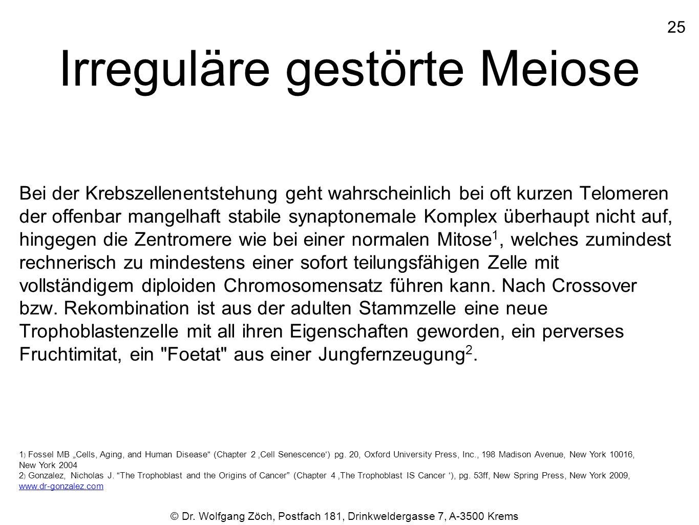 Irreguläre gestörte Meiose
