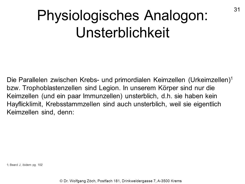 Physiologisches Analogon: Unsterblichkeit