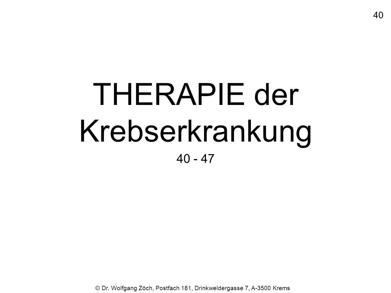 THERAPIE der Krebserkrankung