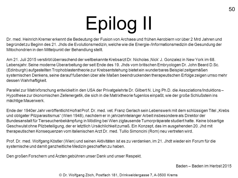 Epilog II 50.