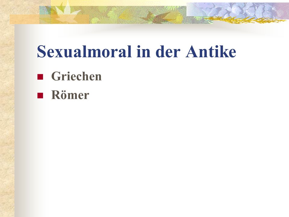 Sexualmoral in der Antike