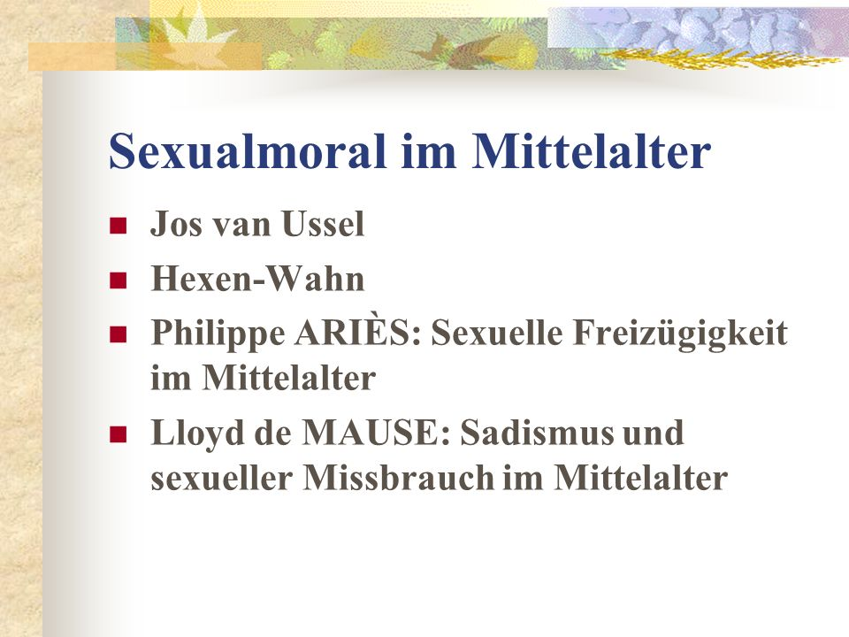 Sexualmoral im Mittelalter