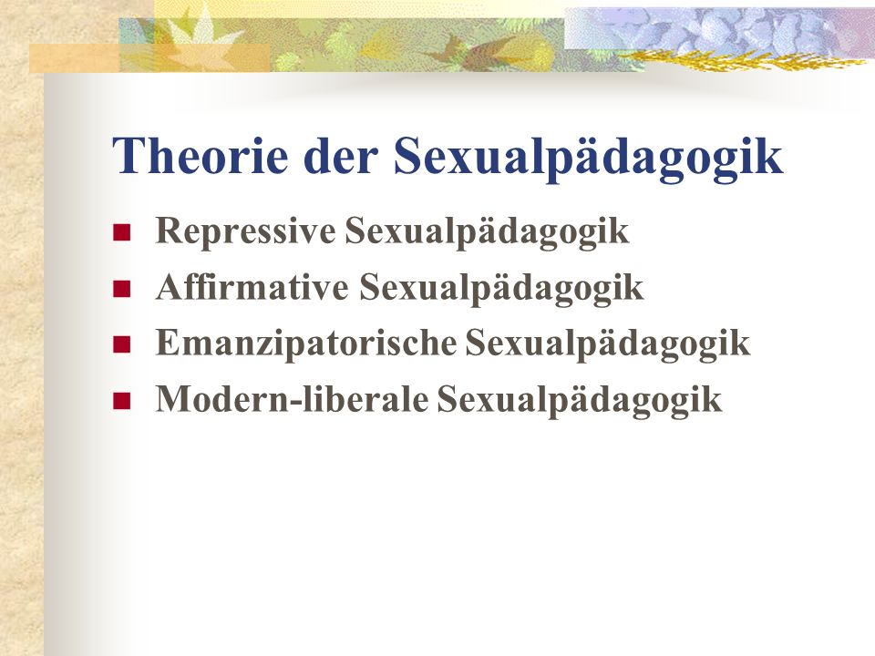 Theorie der Sexualpädagogik
