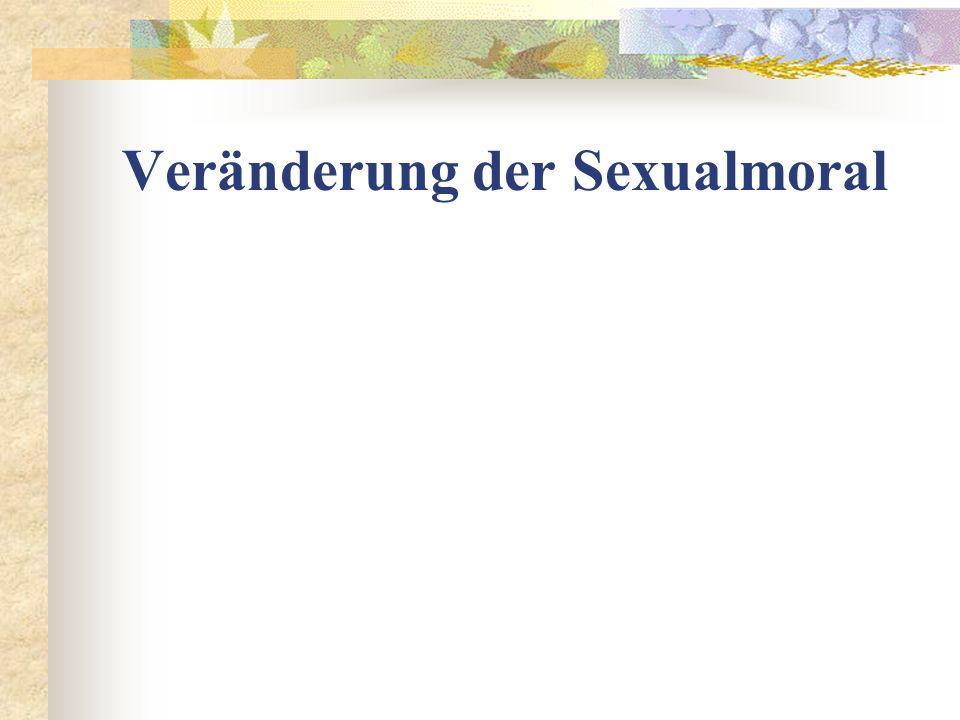 Veränderung der Sexualmoral