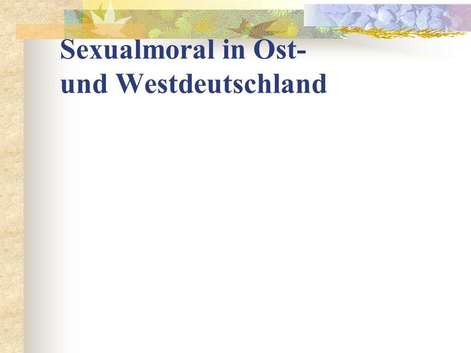 Sexualmoral in Ost- und Westdeutschland