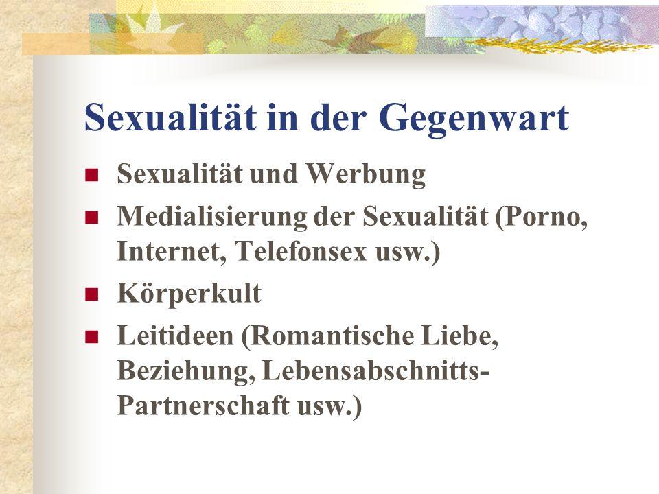 Sexualität in der Gegenwart