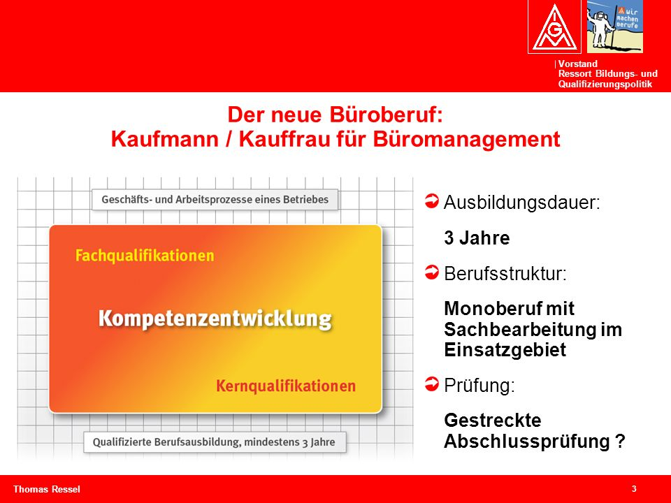 Der neue Büroberuf: Kaufmann / Kauffrau für Büromanagement
