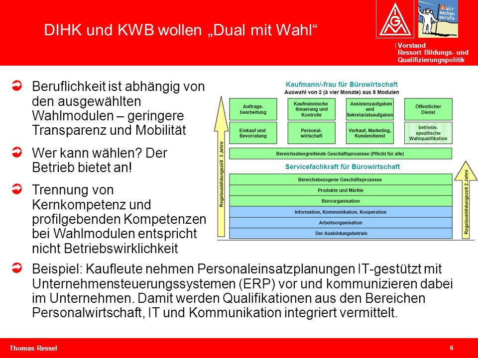 """DIHK und KWB wollen """"Dual mit Wahl"""