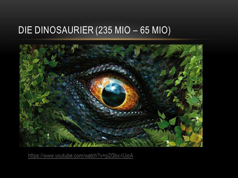 Die dinosaurier (235 Mio – 65 Mio)