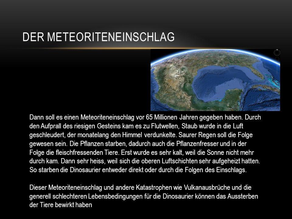 Der Meteoriteneinschlag