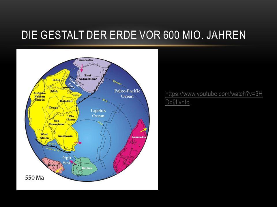 Die Gestalt der Erde vor 600 Mio. Jahren