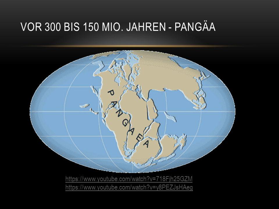 Vor 300 bis 150 Mio. Jahren - Pangäa