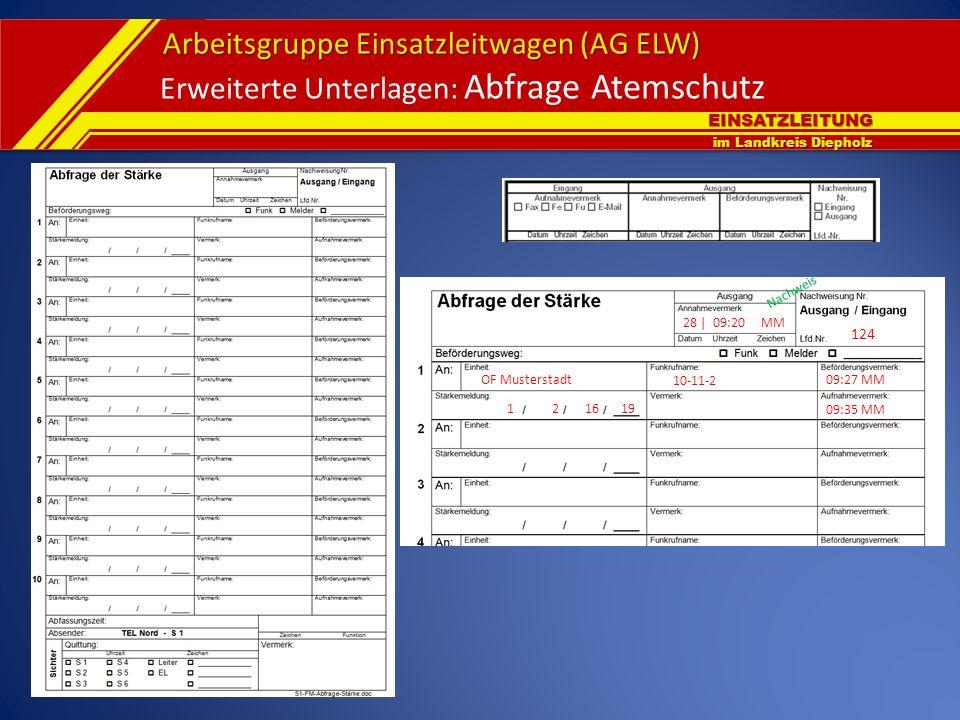 Erweiterte Unterlagen: Abfrage Atemschutz