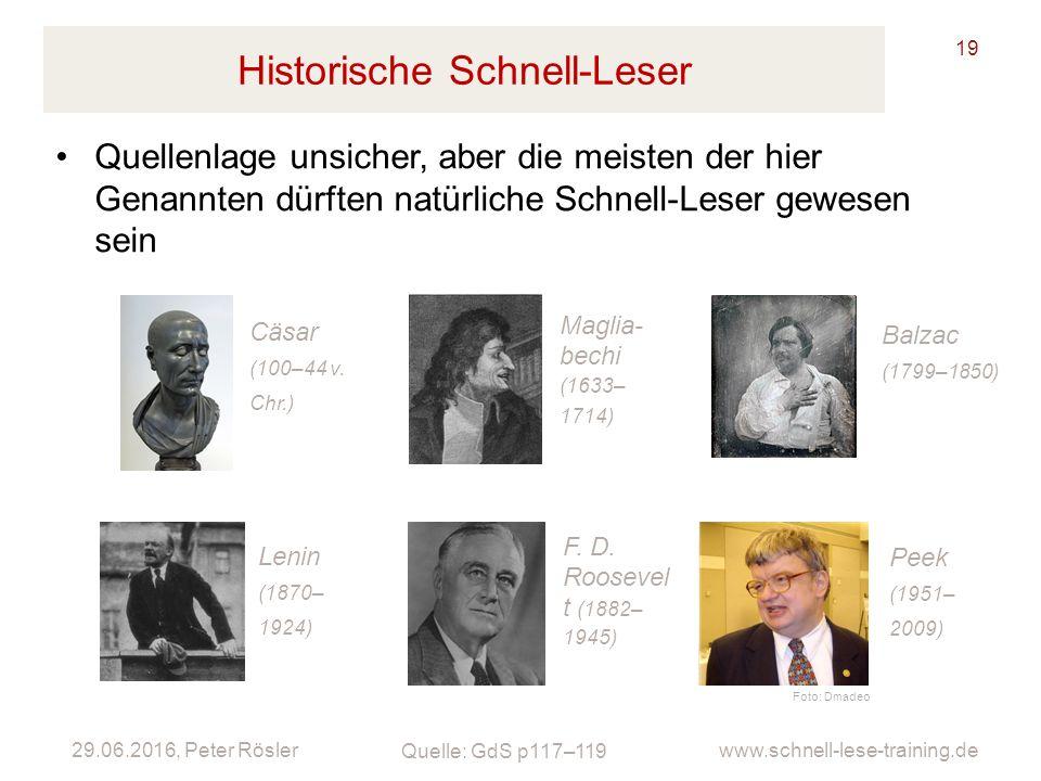 Historische Schnell-Leser