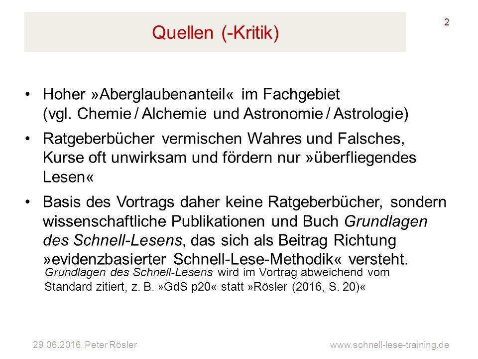 Quellen (-Kritik) Hoher »Aberglaubenanteil« im Fachgebiet (vgl. Chemie / Alchemie und Astronomie / Astrologie)