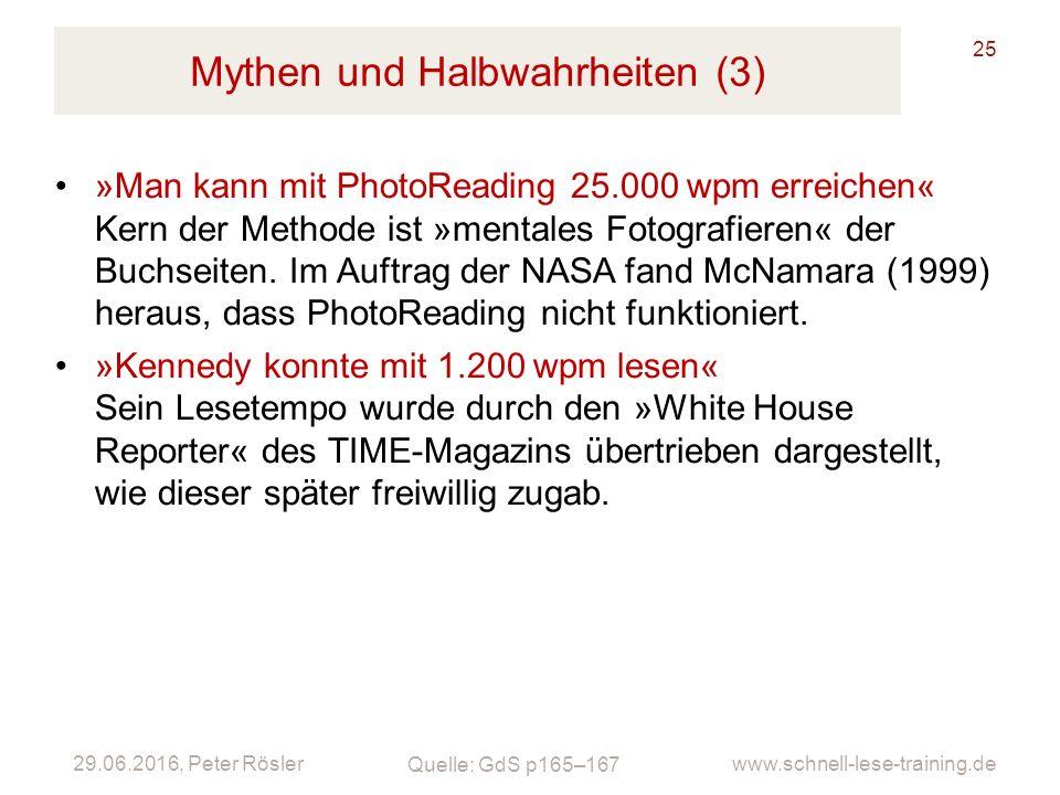 Mythen und Halbwahrheiten (3)