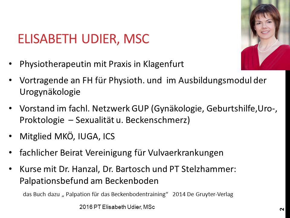 Elisabeth Udier, MSc Physiotherapeutin mit Praxis in Klagenfurt