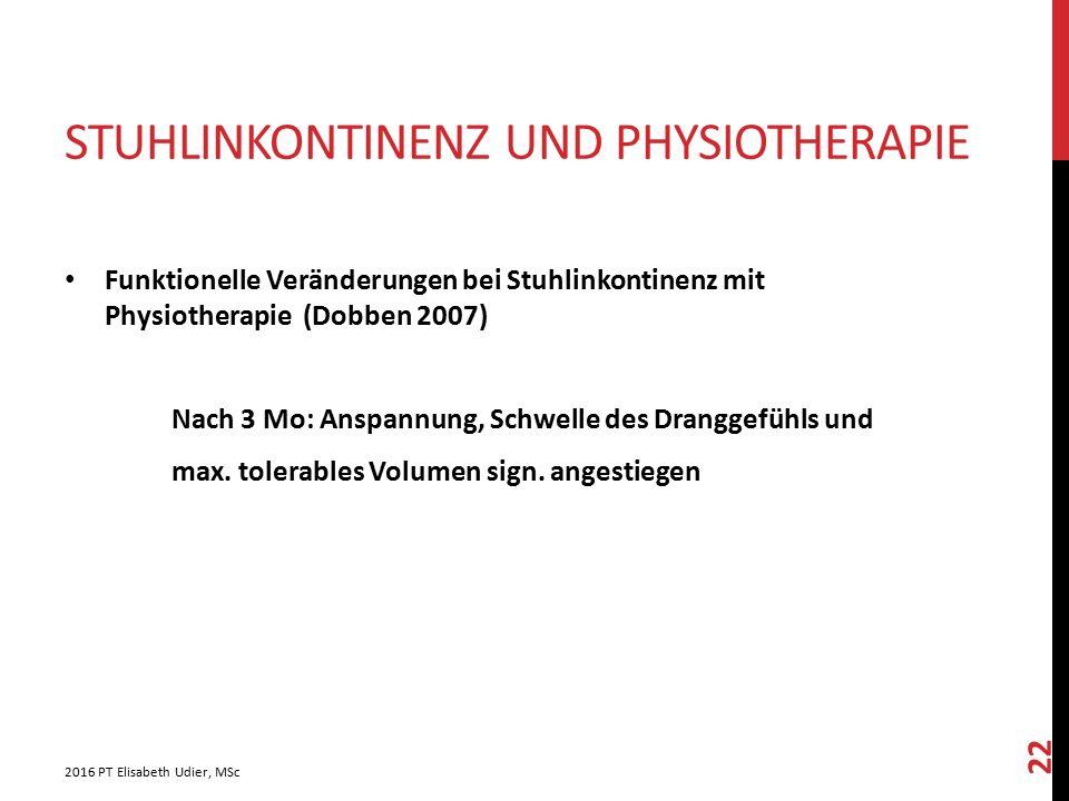 Stuhlinkontinenz und Physiotherapie