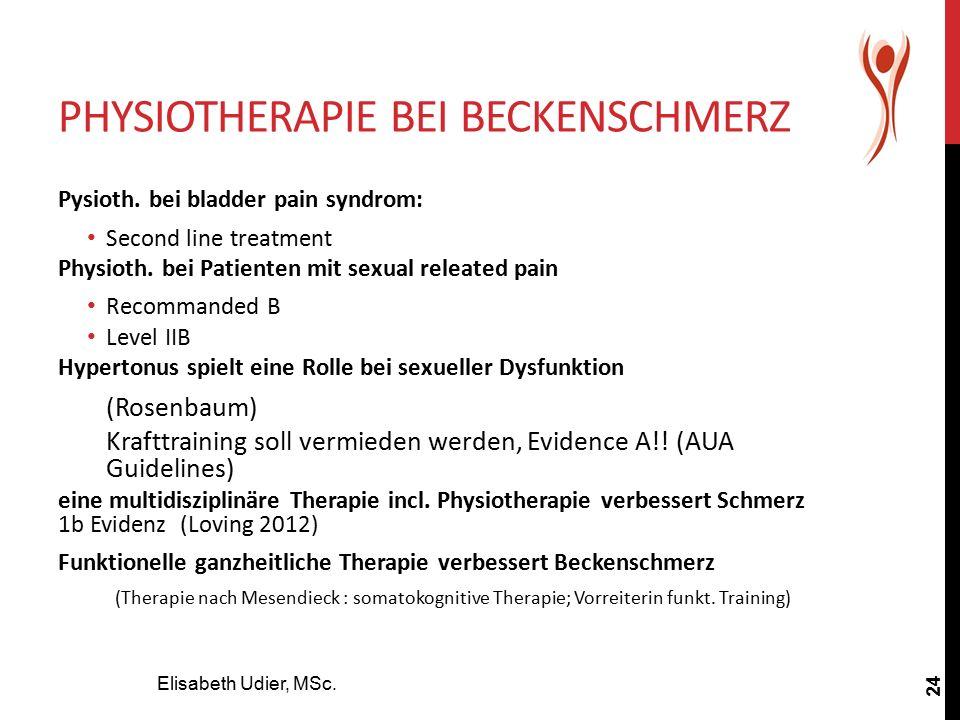 Physiotherapie bei Beckenschmerz
