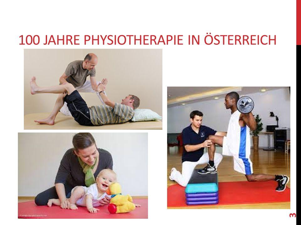 100 Jahre Physiotherapie in Österreich