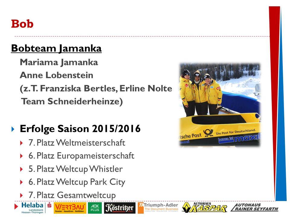 Bobteam Jamanka Erfolge Saison 2015/2016 Mariama Jamanka