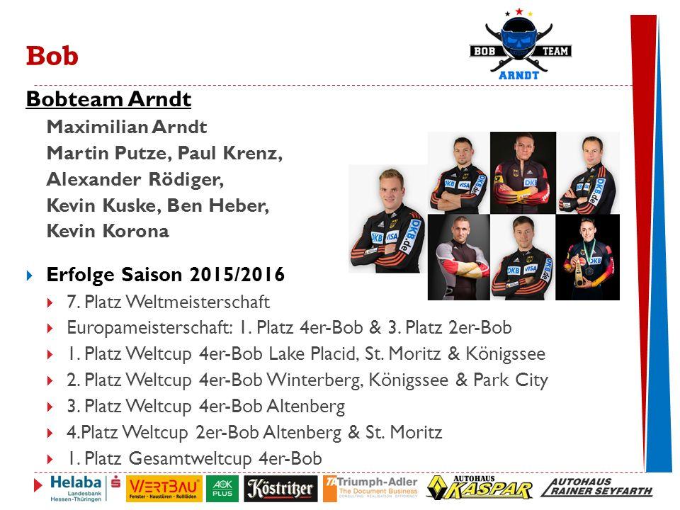 Bobteam Arndt Erfolge Saison 2015/2016 Maximilian Arndt
