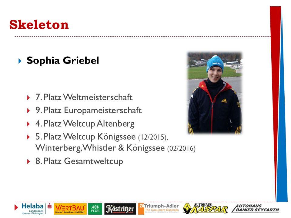 Skeleton Sophia Griebel 7. Platz Weltmeisterschaft