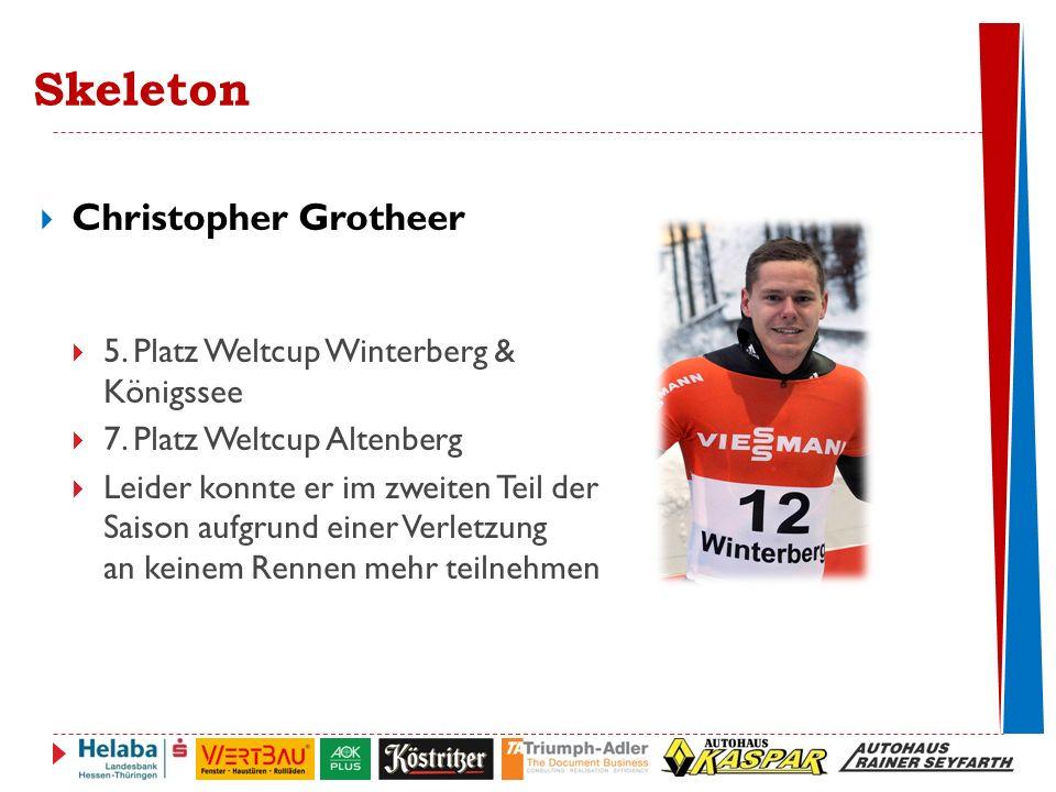 Skeleton Christopher Grotheer 5. Platz Weltcup Winterberg & Königssee