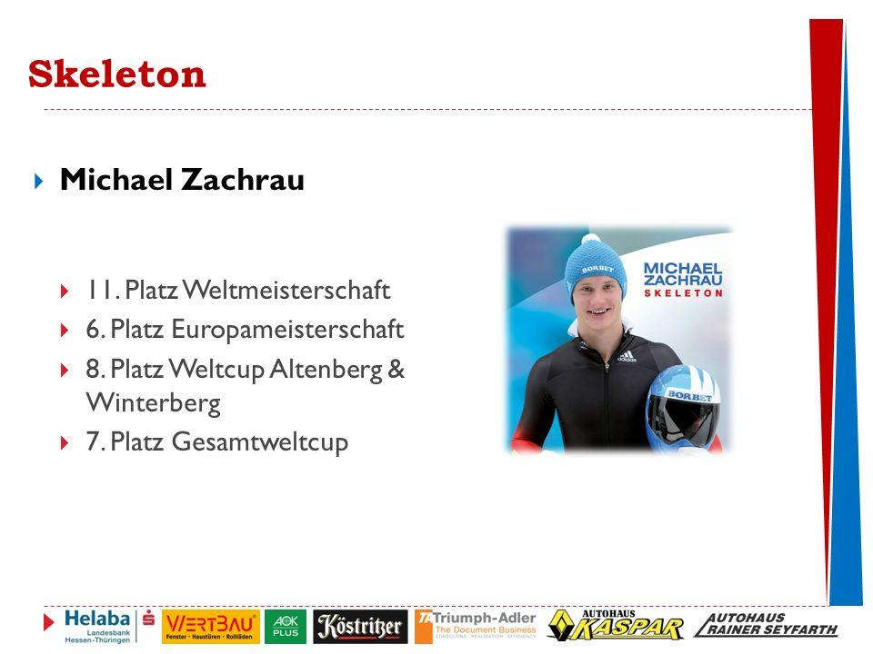 Skeleton Michael Zachrau 11. Platz Weltmeisterschaft