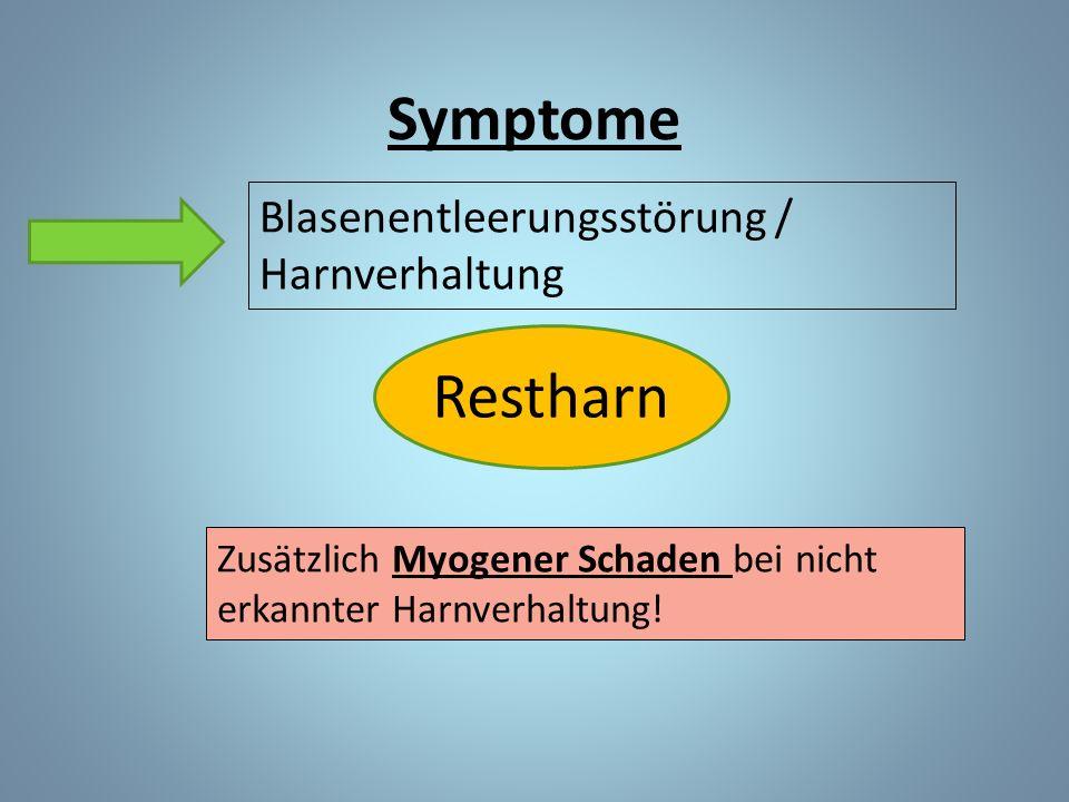 Symptome Restharn Blasenentleerungsstörung / Harnverhaltung