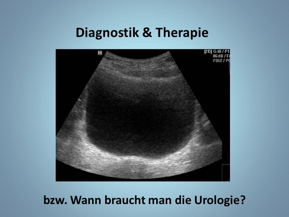 bzw. Wann braucht man die Urologie