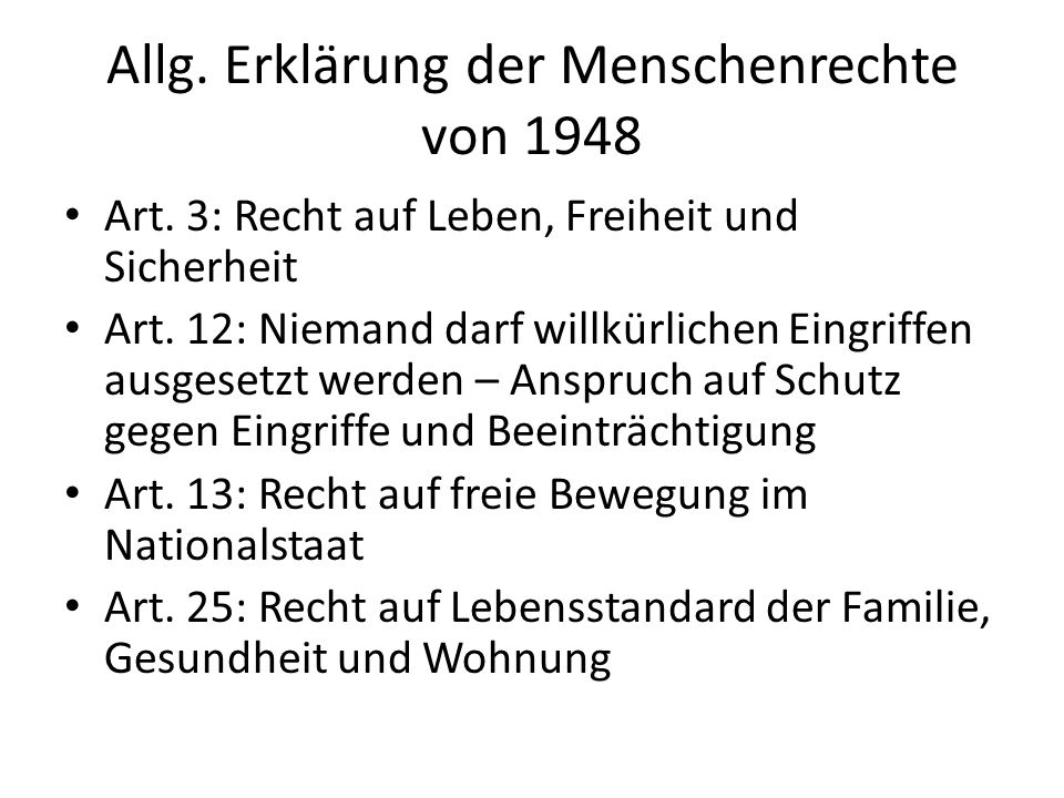 Allg. Erklärung der Menschenrechte von 1948