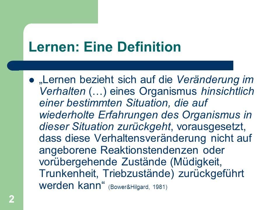 Lernen: Eine Definition