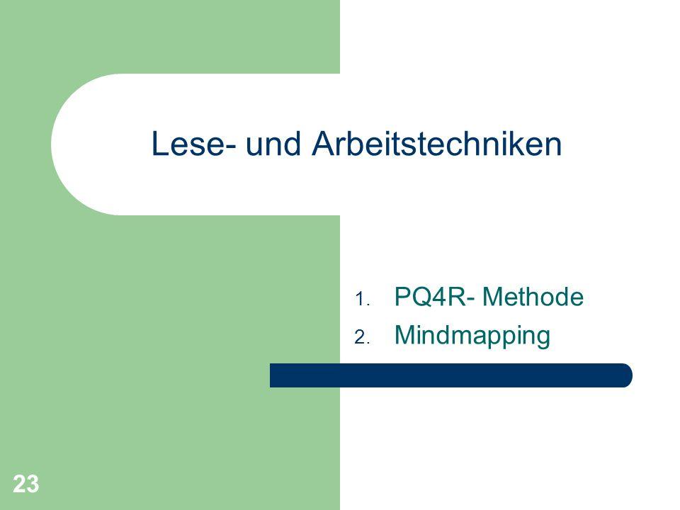 Lese- und Arbeitstechniken