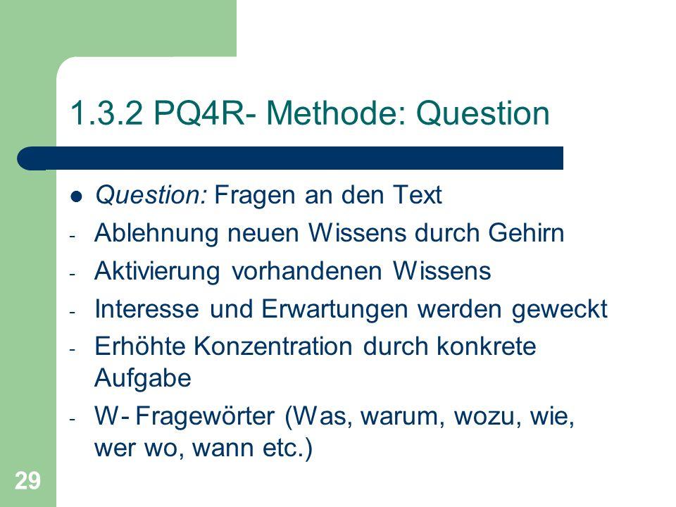 1.3.2 PQ4R- Methode: Question