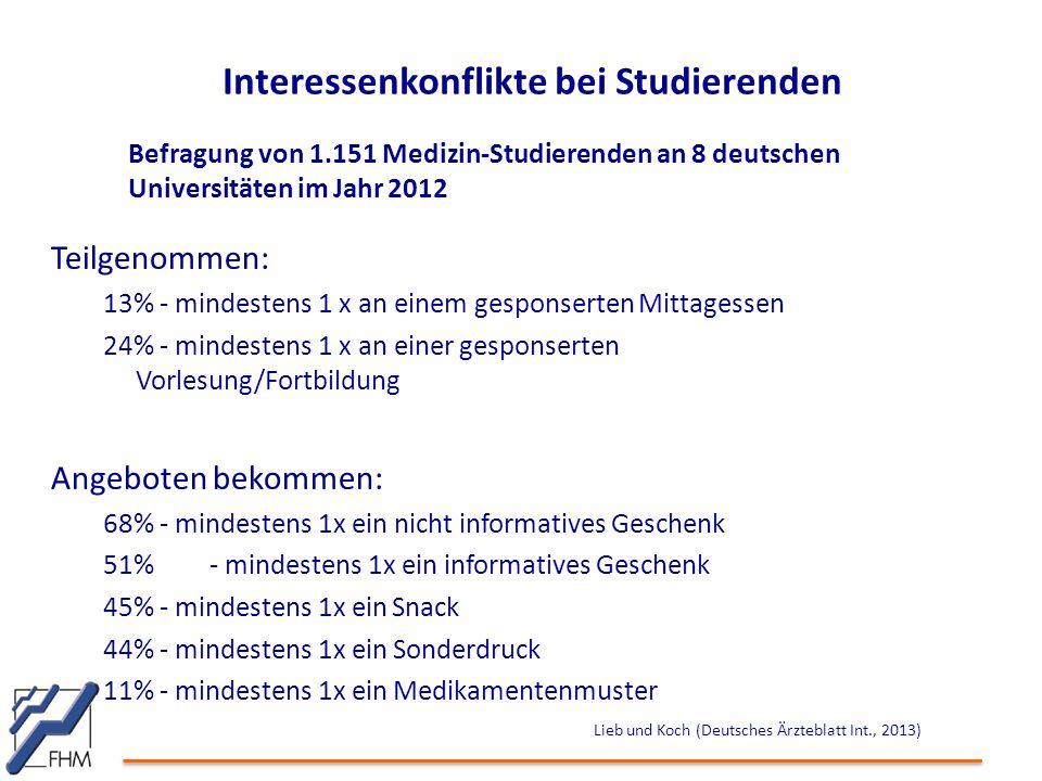 Interessenkonflikte bei Studierenden