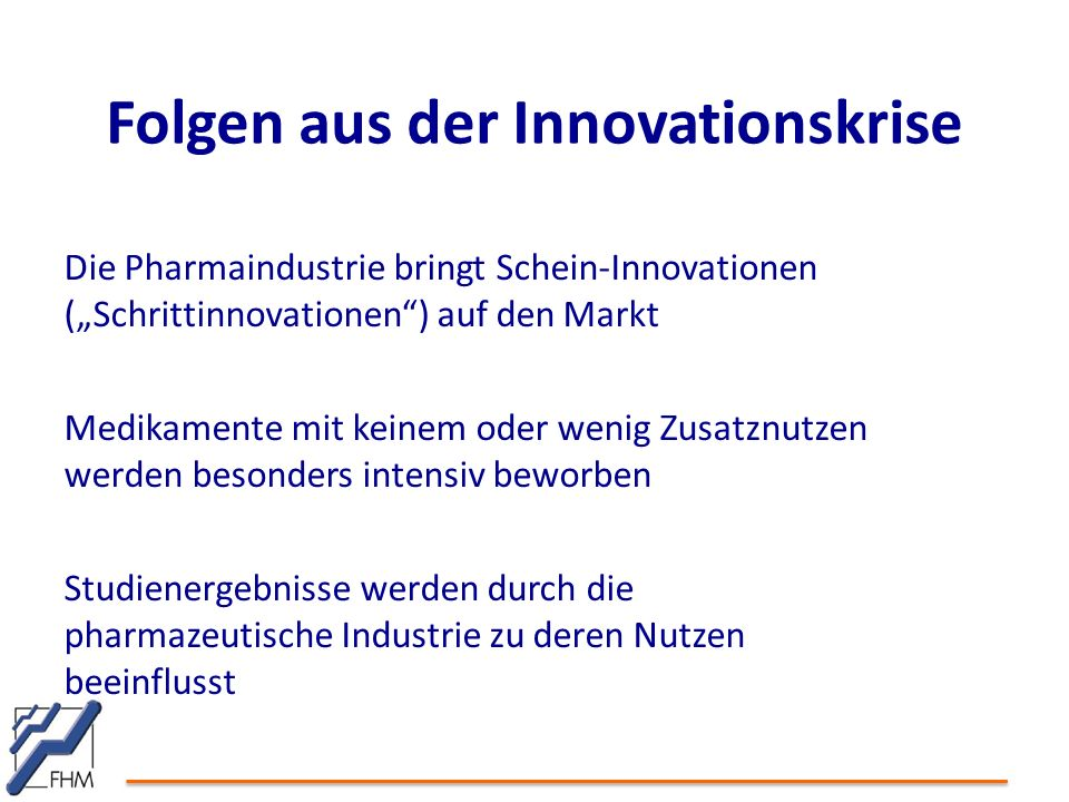 Folgen aus der Innovationskrise