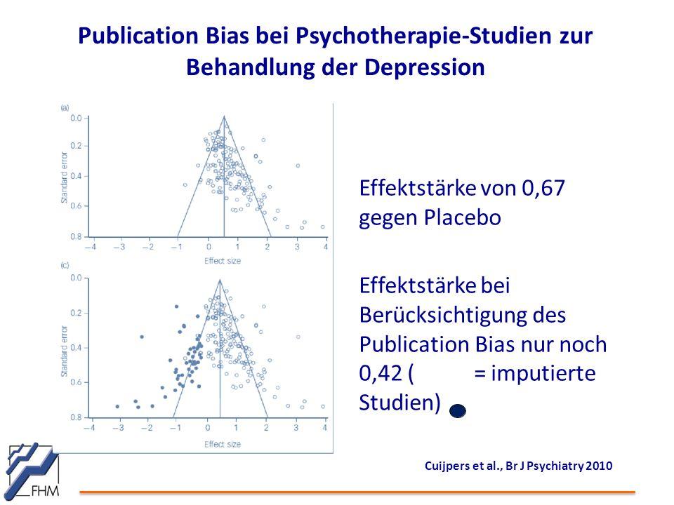 Publication Bias bei Psychotherapie-Studien zur