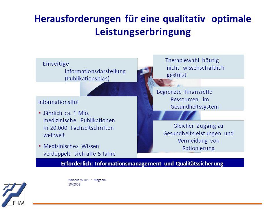 Herausforderungen für eine qualitativ optimale Leistungserbringung