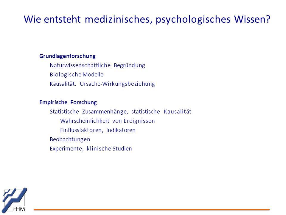 Wie entsteht medizinisches, psychologisches Wissen