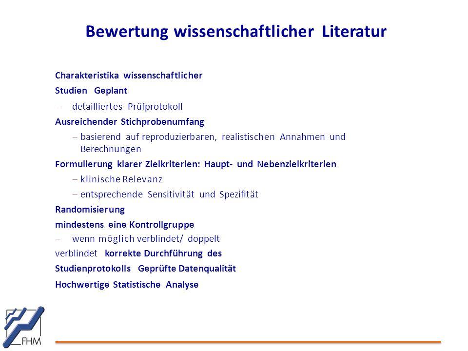 Bewertung wissenschaftlicher Literatur