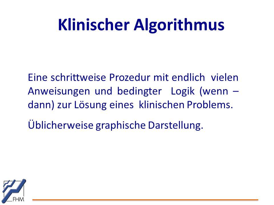 Klinischer Algorithmus