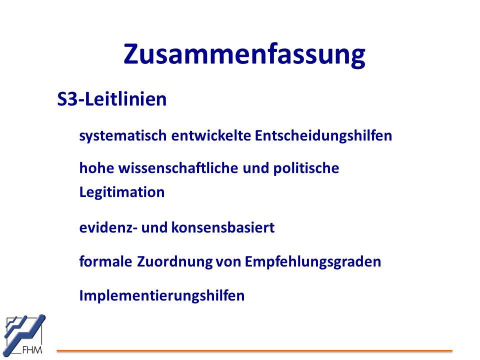 Zusammenfassung S3-Leitlinien