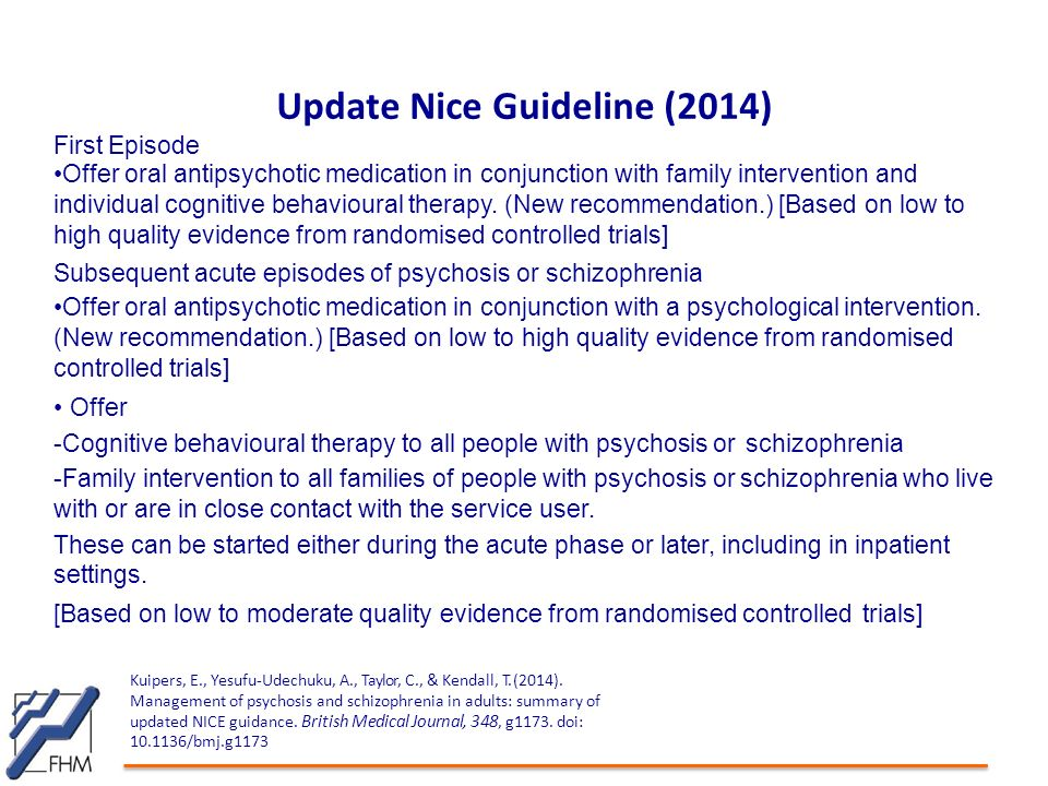Update Nice Guideline (2014)