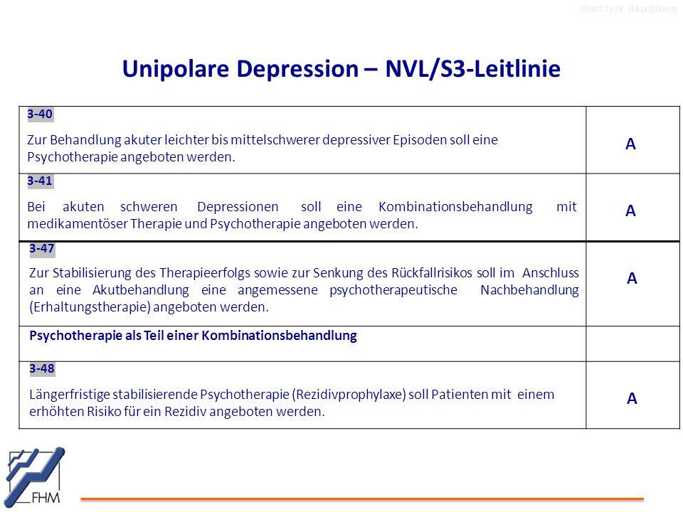 Unipolare Depression – NVL/S3-Leitlinie