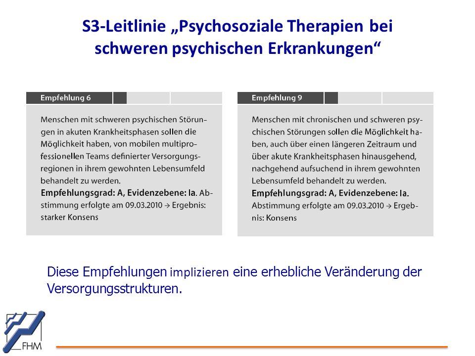 """S3-Leitlinie """"Psychosoziale Therapien bei"""